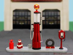 Vintage Gas Pump (bruceywan) Tags: station vintage lego antique retro gas pump photostream moc ib3 ironbuilder brucelowellcom ibbl3 blcomib3