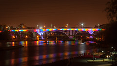 35W Bridge celebrating same-sex marriage (yatesh) Tags: minnesota canon minneapolis pride celebration gaymarriage rebelxti 35wbridge