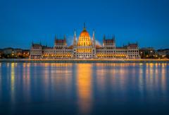 The Parliament (HDR) (farbspiel) Tags: blue nikon hungary tripod budapest parliament hour nikkor ungarn danube hun hdr 18200mm d7000 nikonafsdxnikkor18200mm13556gedvr