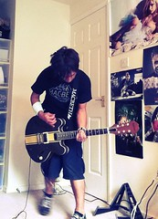Practice (embryonicboy) Tags: music rock punk guitar instrument blink182 es333 uploaded:by=flickrmobile flickriosapp:filter=chameleon chameleonfilter