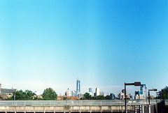 World Trade Center from the Journal Square PATH station (aaronvandorn) Tags: jerseycity worldtradecenter wtc rokkor