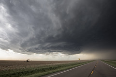Ness City, Kansas Supercell (Kelly DeLay) Tags: road hail wind kansas ness stormchasing supercell nesscity clouds365project