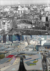 View From St Pauls Cathedral`1953-2013 (roll the dice) Tags: city uk london art history classic fashion shopping site high construction ruins sad cranes collection dome damage shops wren local bombs blitz demolished lloyds tower42 walkietalkie oldandnew cheapside ec4 cheesegrater pastandpresent squaremile bygone hereandnow goldengallery skysccraper