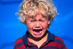 Blond Boy Crying (anchor1203) Tags: people boys portraits children photography sadness 1 crying colorphotography blond males whites frustration facialexpressions headandshouldersportraits headandshouldersstudioportraits studioportraits