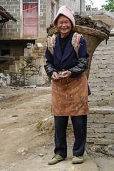 Charming, hard-working woman in the morning (Rita Willaert) Tags: china embroidery indigo guizhou miao minority etnic stammen borduurwerk liupanshui zuidwestchina sidecombmiao minderheidsgroep villagemouerguan