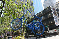 I'll Fly Away (Flint Foto Factory) Tags: park city morning blue urban chicago tower art public car bike bicycle work lite franklin quincy fly illinois am spring paint downtown day angle jeep loop painted sears seat garage parking may pedestrian away banana jackson miller fantasy installation rushhour willis 2013 letitflow