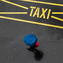 >TAXI< (Narzouko) Tags: street blue red people rain yellow umbrella jaune canon square rouge switzerland suisse graphic streetphotography pluie lausanne bleu l rue 70200 ch complmentaire additional gens carr parapluie flon graphisme photoderue minimalisme 70200f4lis canon5dmkii 5d2 nzk narzouko