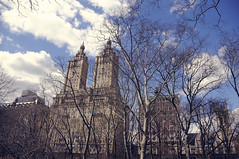 The San Remo (line of fire) Tags: blue clouds centralpark sunny sanremo luxuriousapartments