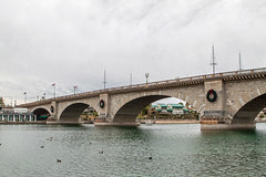 London Bridge (Laveen Photography (aka cyclis451)) Tags: city bridge arizona sky lake london stone arch cloudy az tourist historic havasu attraction cyclist451 laveenphotography