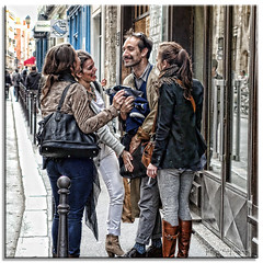 The Conversation (fotografdude) Tags: street girls boy paris smile candid sony touch streetscene conversation rx100 fotografdude