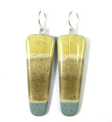 RESERVED FOR TERRY Tidal Pool Series - Ocean's Edge Earrings (DivaDesigns1) Tags: coffee beige mocha espresso powderblue skyblue fauxfinish sugarsand beachjewelry polymerpendant polymerearrings skybluejewelry tidalpoolseries fauxbonepolymer