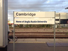 Day 120 (Gus Costa) Tags: uk cambridge home station sign train unitedkingdom united kingdom reino unido