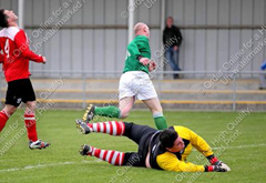 Bolton's Joseph Dwyer peels away as he leaves De La Salle goalkeeper Ian Kelly well beaten to extend his sides lead.