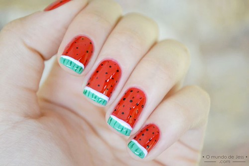 [TUTORIAL] Watermelon nails