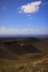 Sleeping Volcano | Lanzarote (! .  Angela Lobefaro . !) Tags: ocean blue sleeping sea clouds volcano spain lanzarote crater canaryislands vulcano cratere
