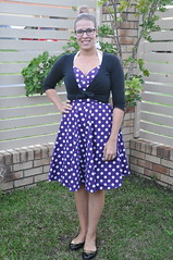 Me Made May Day 17 (Petticoats & Peplums) Tags: me vintage day fifties dress purple may style spot made 1950s 17 spotted 50s halter seventeen