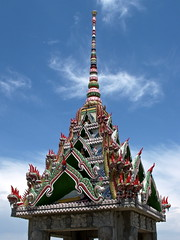Temple (tim.perdue) Tags: wood roof ohio london abandoned rural temple carved cambodian khmer decay buddhist painted forgotten vacant unfinished ornate multicolored watt crumbling decorated puthipreak
