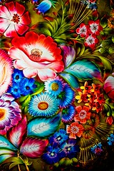Floral pattern on the tray (Nataliya Belitskaya) Tags: old floral spring pattern estate bright russia tray russian podolsk moscowregion 2013 ivanovskoe