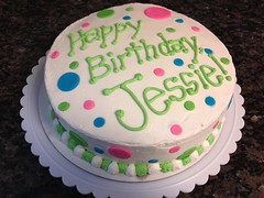Polka Dot cake by Amanda, RDU NC, www.birthdaycakes4free.com