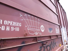 iron gate (bearded wagon) Tags: southwest art train bench boxcar streaks freight trackside hono bencher moniker 62513