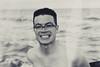 Cheese (Luke Bonner 2013) Tags: ocean sea white black beach smile image ollie cheesey