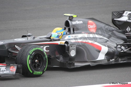 Esteban Gutierrez in Free Practice 2 at the 2013 British Grand Prix