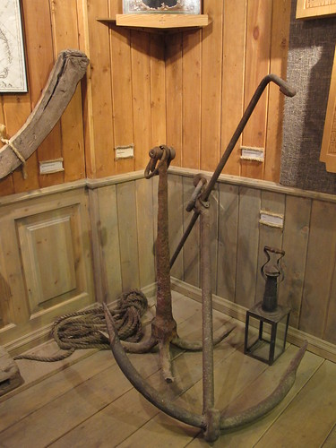 Exhibits in the maritime museum