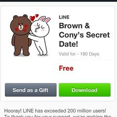 Line Sticker แจกฟรีฉลองครบ 200 ล้าน User ของ Line อันแรกมาแล้ว
