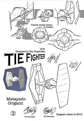TIE Fighter origami diagram 3 (Matayado-titi) Tags: starwars origami fighter space tie diagram imperial vehicle spaceship starship advanced interceptor tiefighter starfighter sugamata matayado