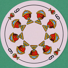 Spanish Round Playing Card 9 of Cups (Copas) (Leo Reynolds) Tags: playing canon eos iso100 deck card squaredcircle 60mm f80 playingcard carddeck 40d hpexif 001sec 066ev xleol30x sqset093 xxvisiblexx