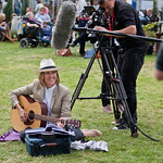 Cerys Matthews plays guitar