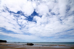 Cloud & Seascape (Dave McGlinchey) Tags: sea france ice water rain clouds seaside cloudy atmosphere seafront dday atmospheric vapour icecrystals cloudscapes optic landings d5000 lowernormandy