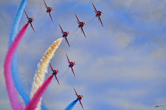 Paint the Sky (AFEXPhotography) Tags: red sky airplane photography nikon aircraft aviation smoke sigma airshow arrows bournemouth redarrows raf aerobatics airfest royalairforce 2013 d7000 sigma150500mm nikond7000 stswilliams bournemouthairfestival2013 bournemouthairshow2013