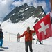 DSCN1717 (2006 July) atop the Aletsch Glacier in front of Jungfrau Mountain