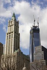 Woolworth & WTC, NYC (JGMarshall Photography) Tags: new york city nyc travel usa newyork brooklyn america photography interesting bronx manhattan joe marshall queens gotham bigapple joemarshall jgmarshall