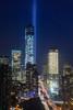 Tribute In Light (Wen Jie Zhou) Tags: nyc newyorkcity newyork tribeca tributeinlight freedomtower