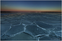Ice Floes (janilindstrom) Tags: winter sunset sea cold ice night finland icefloes drift