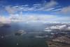 Angel Island, Treasure Island and the Bay Bridge, Seen from Above (fksr) Tags: california clouds oakland treasureisland baybridge sanfranciscobay angelisland aerialphotography pointrichmond yerbabuenaisland