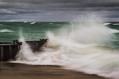 PtB-4WaveAct-3546 (ETCphoto) Tags: beach clouds waves longexp ptbetsie lkmichigan