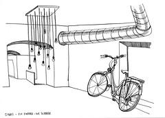 4th Lendplatz project drawing... ein Farrhad ! (Louise Digard) Tags: dessin vlo encre