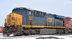 CSXT 3042 West (redfusee) Tags: csxt