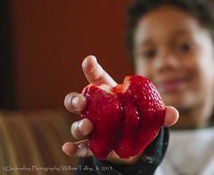 Ummm Juicy! (uselessbay) Tags: family portrait digital children strawberry nikon flickr bokeh wordpress jordan uselessbay 2013 500px mastercollection d7000 uselessbayphotography