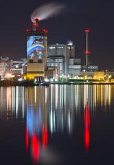 swb-Kraftwerk, Bremen-Hemelingen (otto.hitzegrad) Tags: nacht energie bremen weser kraftwerk bilder dunkel lichter geburtstagsfeier  hastedt hemelingen kohlekraftwerk