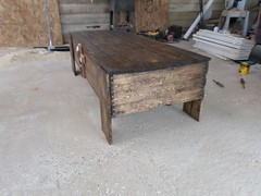 Hidden gun coffee table (Carving Innovations) Tags: pine chainsaw william carving mercer cedar mann bartender redoak sculpting chainsawcarving pharmacyschool pharmdaddy carvinginnovations wwwpharmdaddycom
