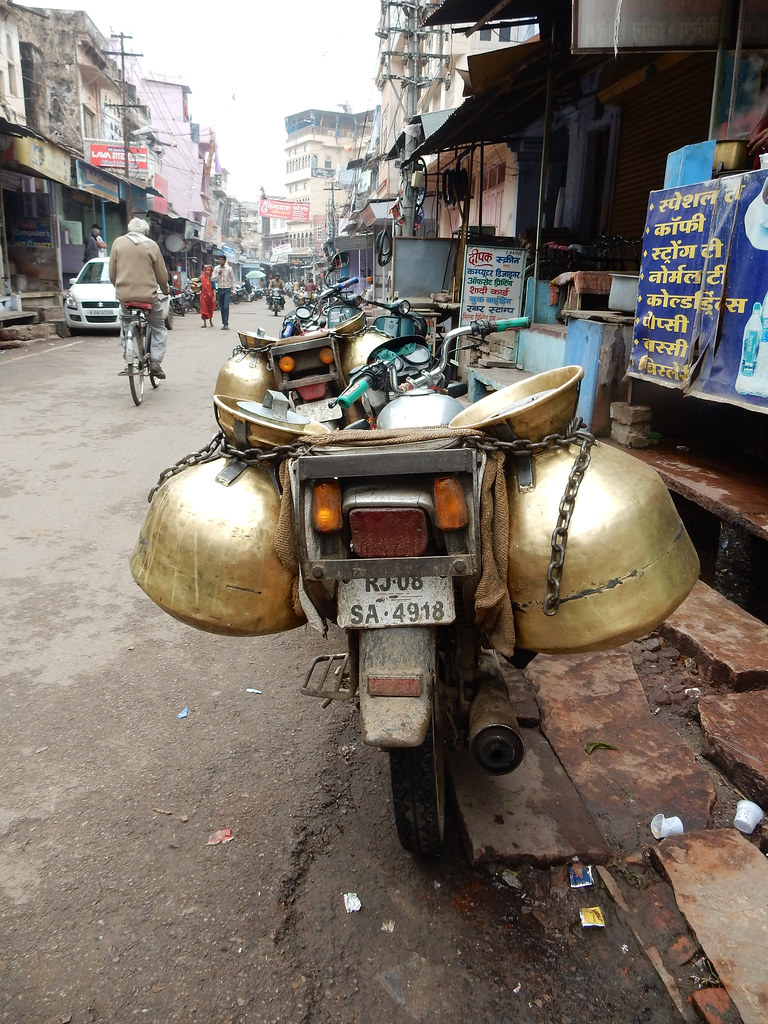 The milk man's motorbike