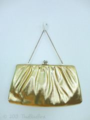 Vintage Handbag Purse (thisbluebird) Tags: purse handbag vintagehandbag goldpurse framebag vintagepurse goldbag formalpurse vintageclothesthisbluebird