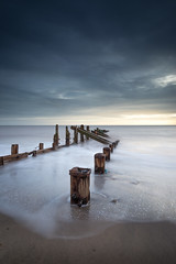 Rush II (Draws_With_Light) Tags: winter sea water sunrise season landscape seaside structures places scene slowshutter coastline filters groynes spurnhead lee09ndhardgrad leelittlestopper