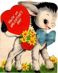 Cute Burro (Calsidyrose) Tags: red love illustration vintage paper design heart graphic sweet kawaii font type romantic cupid valentinesday typeface valentinescard ephemeramcute