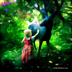 Narnia (mark_irvine) Tags: family green forest woodland children paint deer narnia creations