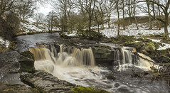 Winter at Nelly Ayre (Katybun of Beverley) Tags: longexposure trees winter snow landscape flow waterfall scenery scenic yorkshiremoors nellyayrefoss